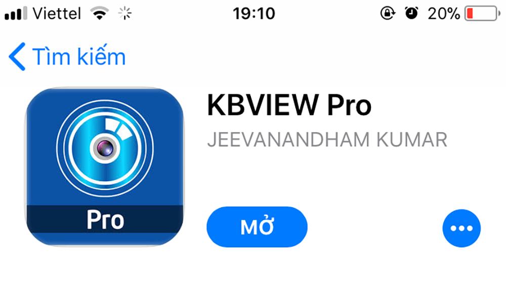 Ứng dụng xem camera KBVIEW Lite