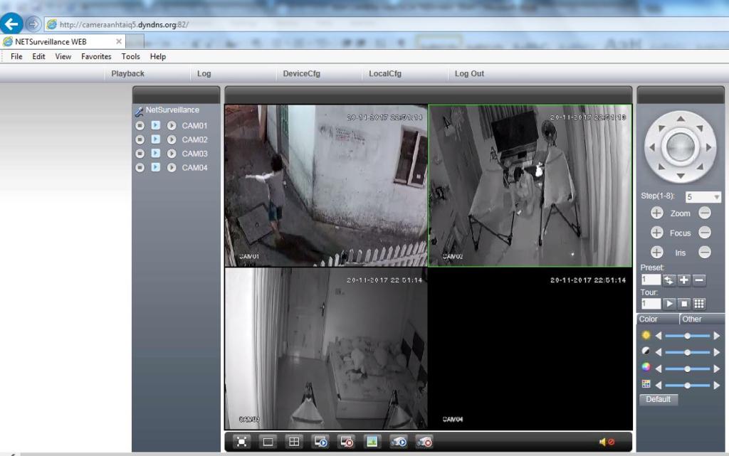 Xem camera trên máy tính với phần mềm camera Vantech