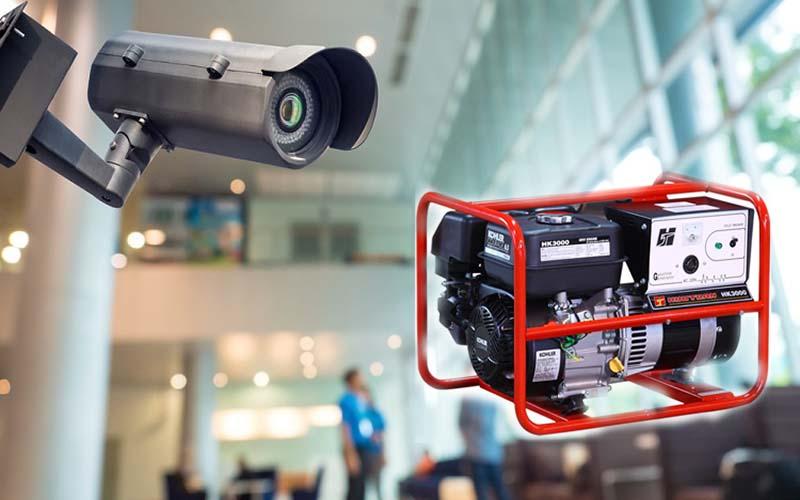 Máy phát điện là một giải pháp khi camera bị mất điện